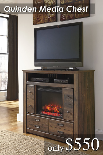 B246-Media Chest With Fireplace $550