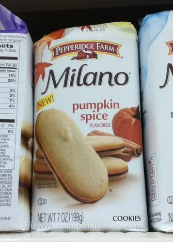 Pepperidge Farm Pumpkin Spice Milano
