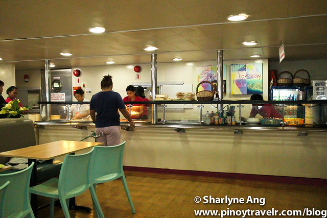 Cafeteria at MV St. Ignatius - 2GO (Odiongan - Caticlan Route)