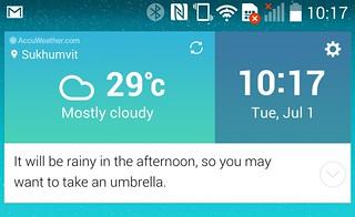 Smart Notice บน LG G3