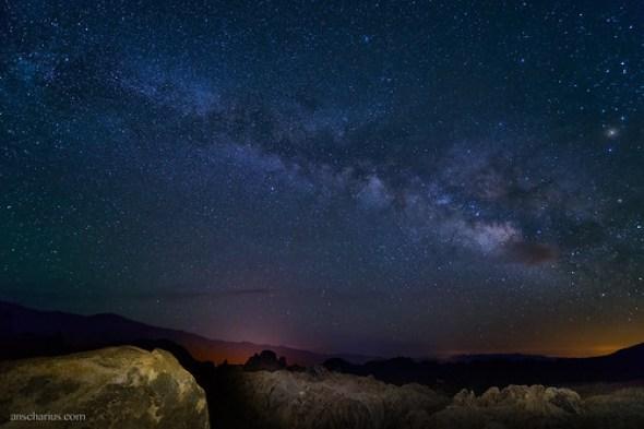 Nightsky over Alabama Hills - Nikon D800E & AF-S 2,8/14-24mm