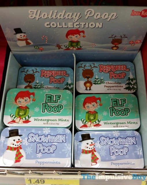 Amuse Mints Reindeer Poop, Elf Poop, and Snowman Poop