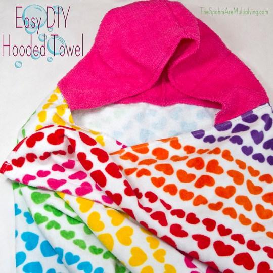 Easy DIY Hooded Towel
