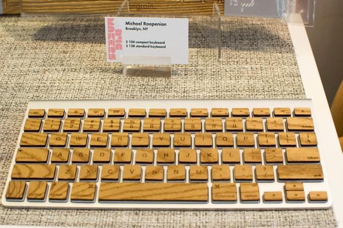 wooden keyboard stickers