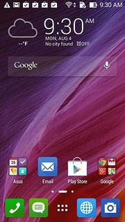 Home screen ของ Asus Zenfone 4 (A450CG)