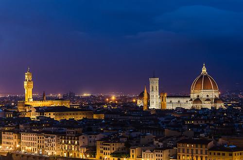 Firenze esti kép - A night shot in Florence, Italy