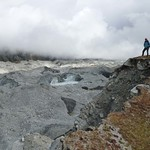 56-Gokyo. Glaciar