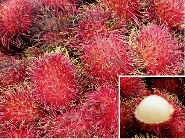 Rambutan, fruta de Asia