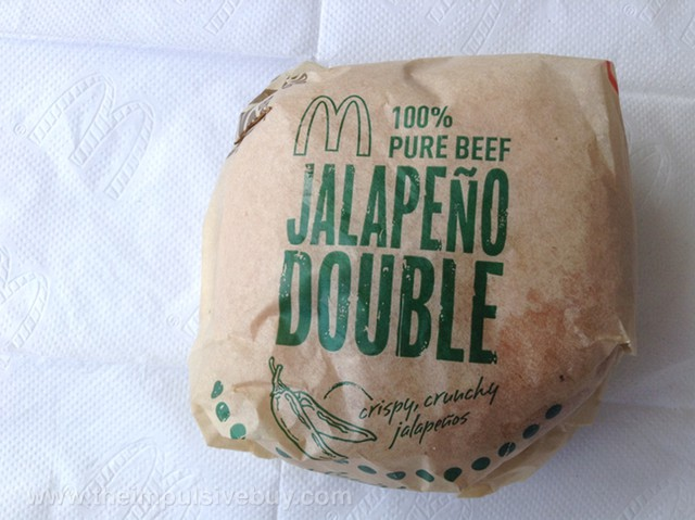 McDonald's Jalapeno Double Wrapper