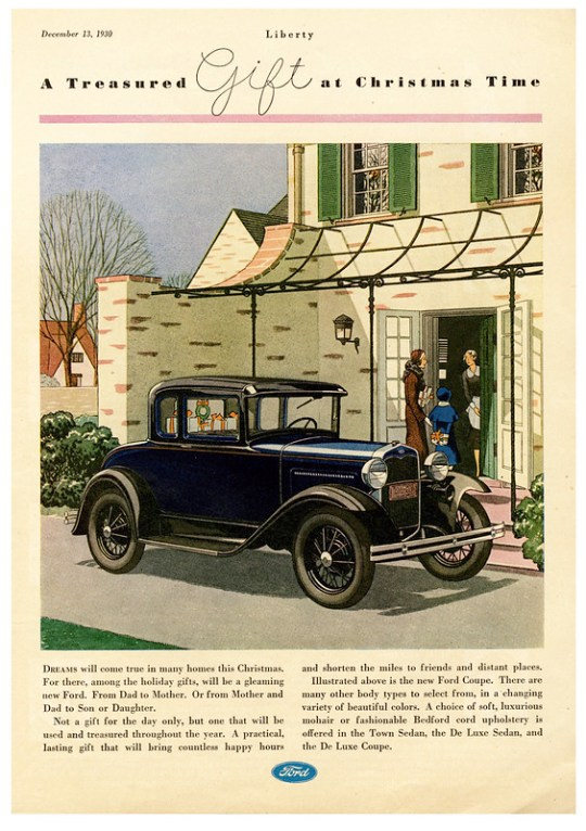 1930 Ford Model A Coupe - published in Liberty - December 13, 1930