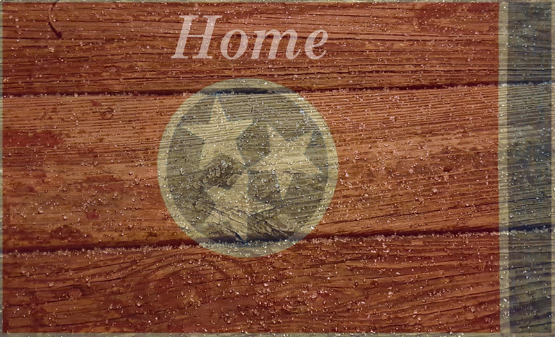 Old wood Tennessee Flag