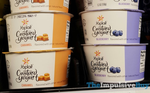 Yoplait Custard Yogurt (Caramel and Blueberry)