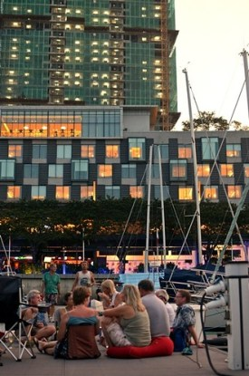 sundowners on the dock