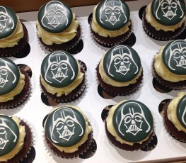 Darth Vader Cookie cupcake-toppers