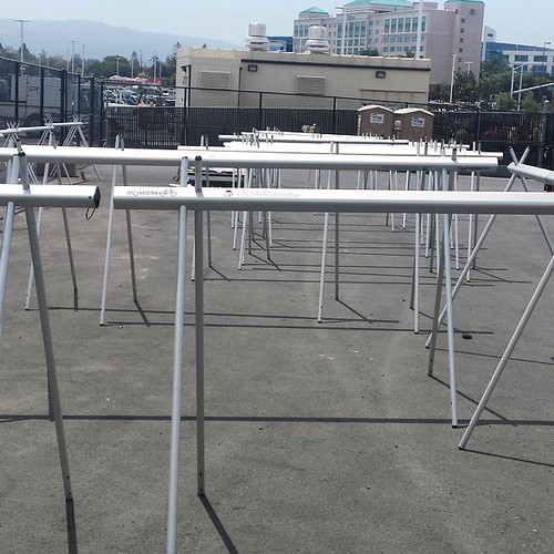 I finally found bike racks at Levi's Stadium.   #santaclara #cycling