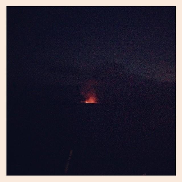 Volcano glow!