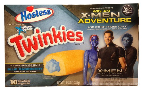 Hostess Limited Edition Extreme Creme Blue Raspberry Twinkies