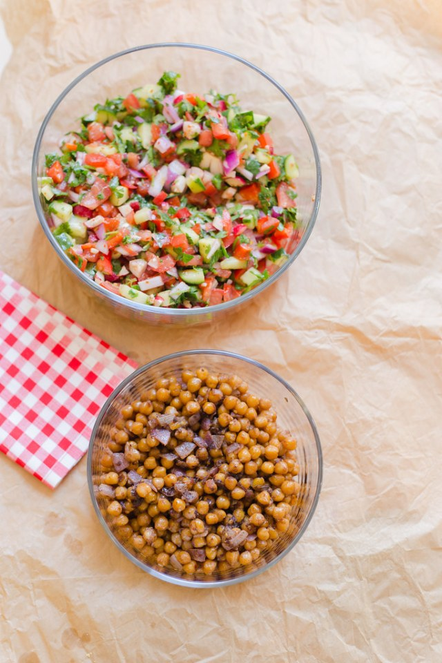 Spiced Chickpea and Fresh Vegetable Salad