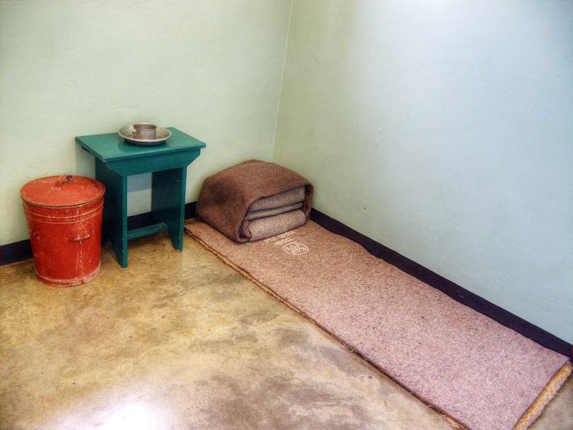 Nelson Mandela's cell, Robben Island.