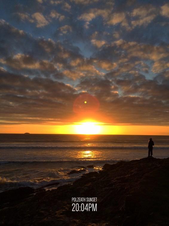 Polzeath Sunset Portrait Photo