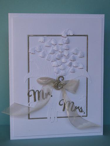 Mr. & Mrs. wedding card