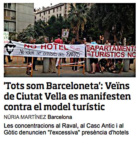 14i03 ara Crisis modelo turístico de Barcelona
