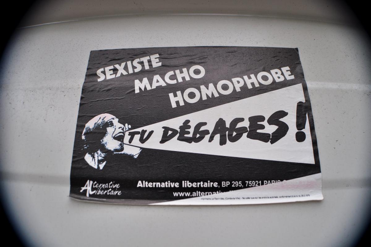 SEXISTE MACHO HOMOPHOBE TU DÉGAGES !