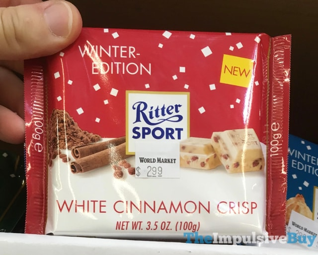 Ritter Sport Winter-Edition White Cinnamon Crisp
