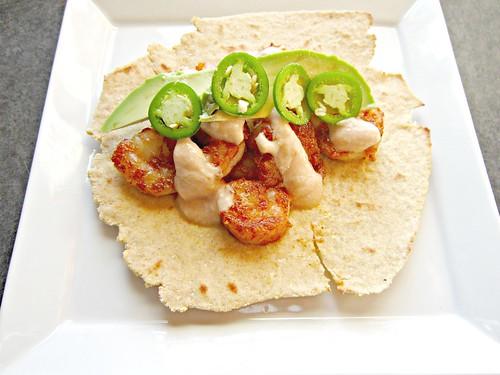 Crispy Chipotle Shrimp Tacos with Chipotle Lime Sauce 2