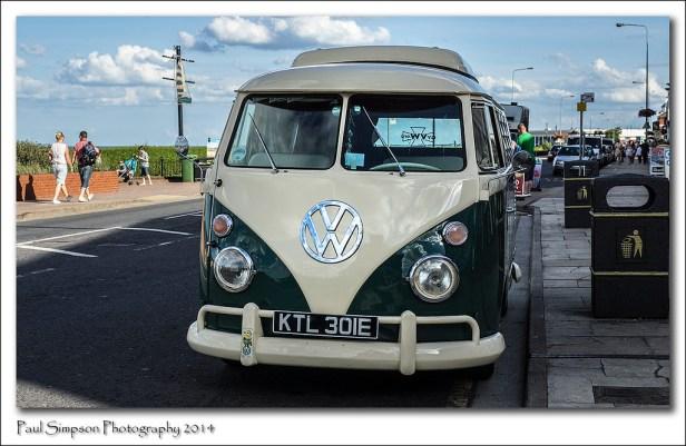 VW Camper Van at the Seaside