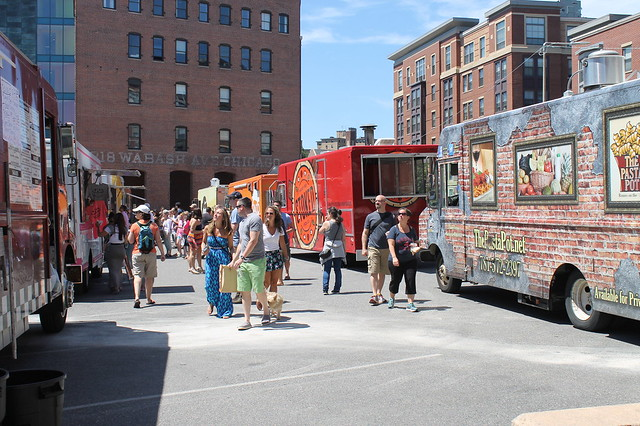 Comer en Boston: Food trucks en Sowa Market, Boston