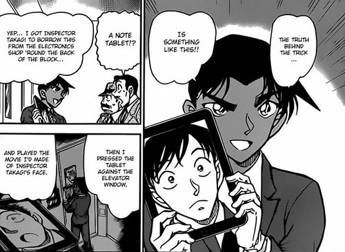 Tablet Trick in Detective Conan