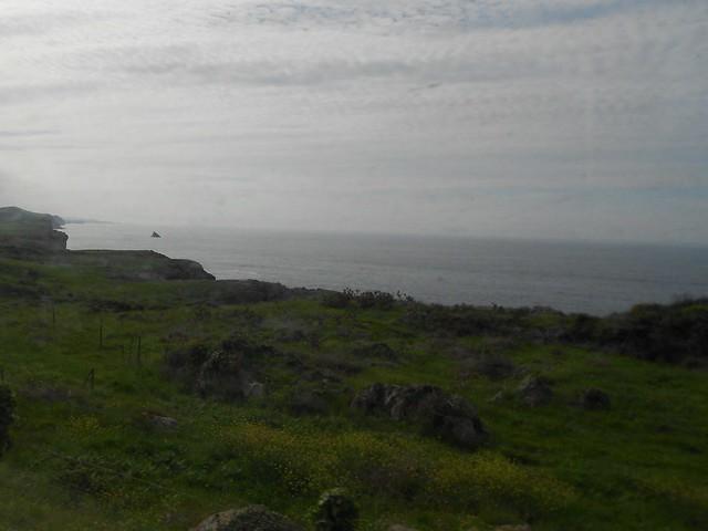 El Mar Cantábrico desde el tren