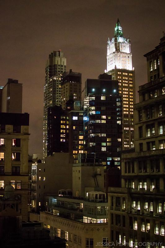 buildings new york night