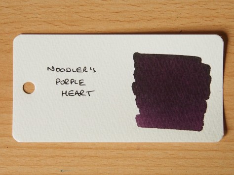 Noodler's Purple Heart - Word Card - Ink Review