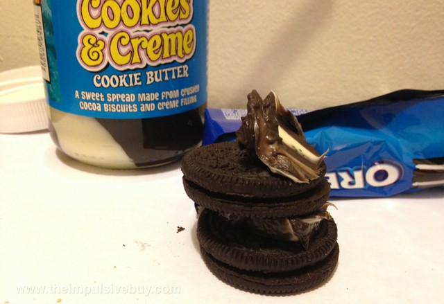 Trader Joe's Cookies & Creme Cookie Butter Dunk wisely