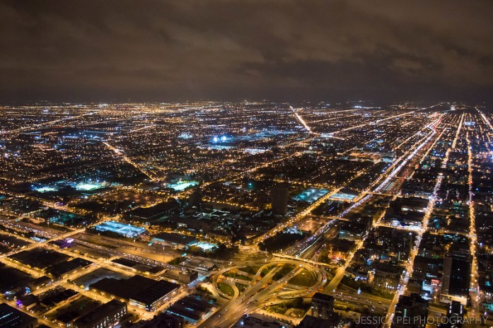 Downtown Chicago from Willis Tower Skydeck