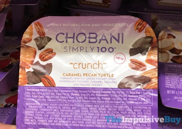 Chobani Simply 100 Crunch Caramel Pecan Turtle Greek Yogurt