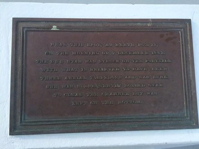 Picture from the USS Utah Memorial