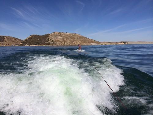 Anela wakeboarding!