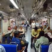 India - Maharashtra - Mumbai - Suburban Train.