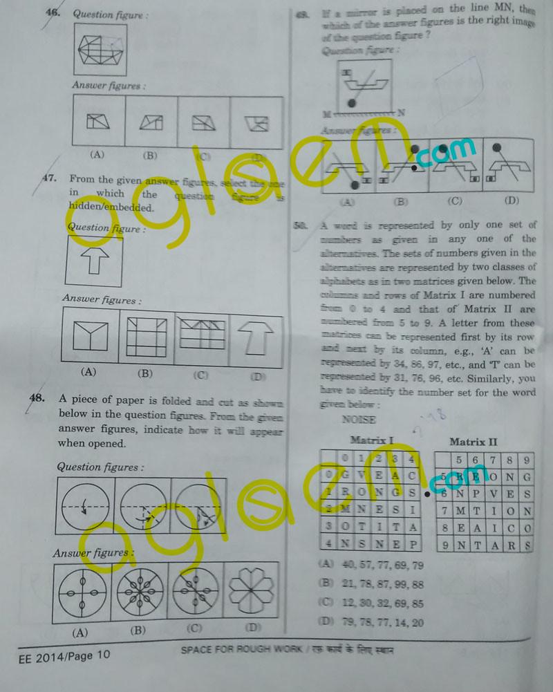SSC CGL Question Paper 2014
