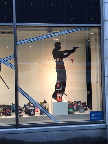 Display window @ Stockholm Bookstore #3