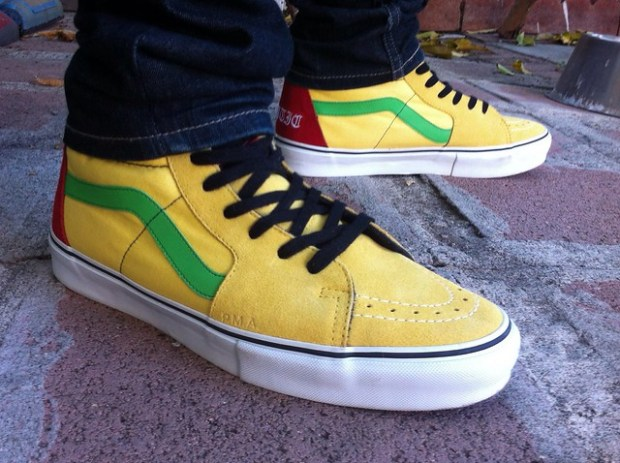 SlipOnFiend - Supreme x Bad Brains Sk8-Hi Yellow