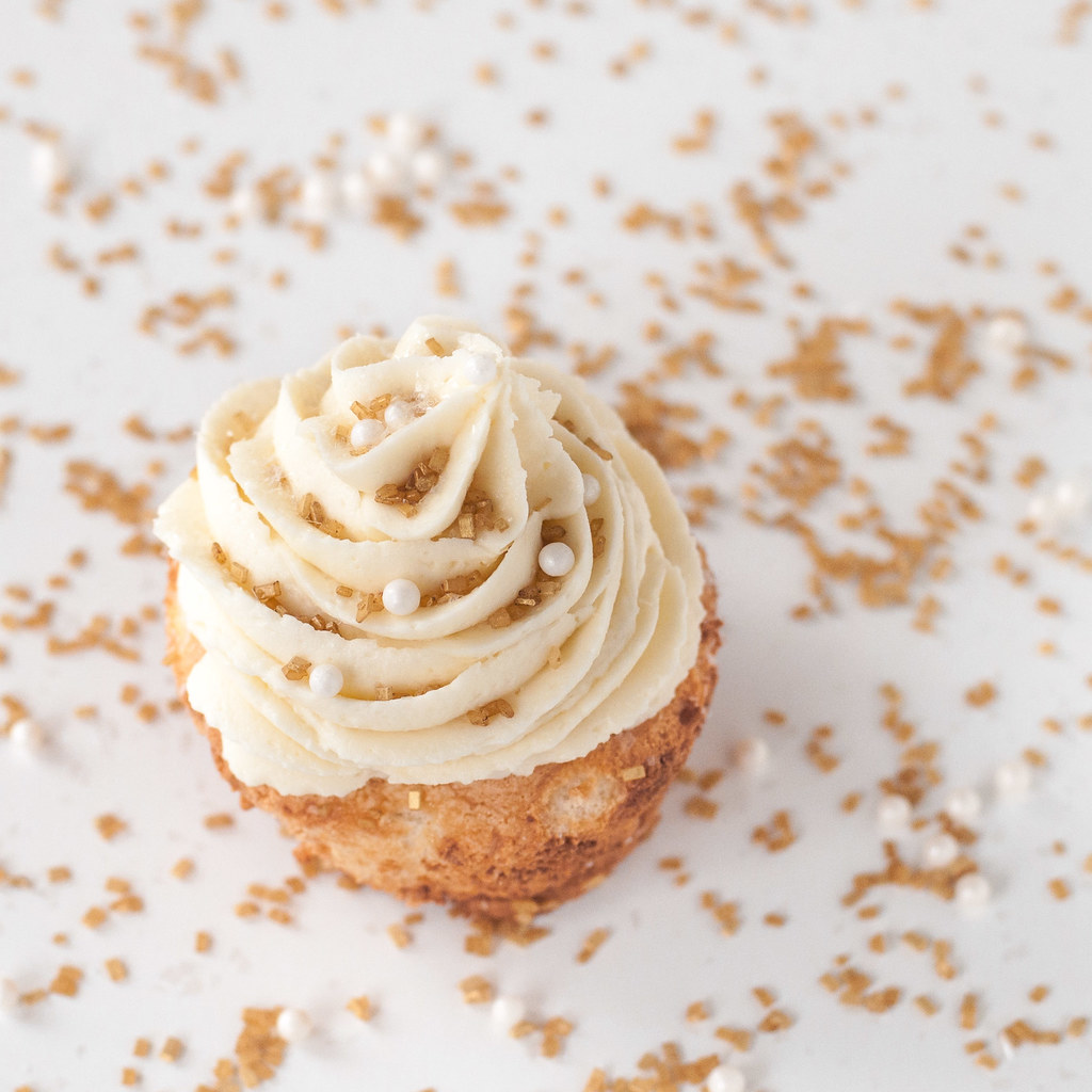 Angel food cupcakes and white chocolate buttercream | Natural Comfort Kitchen