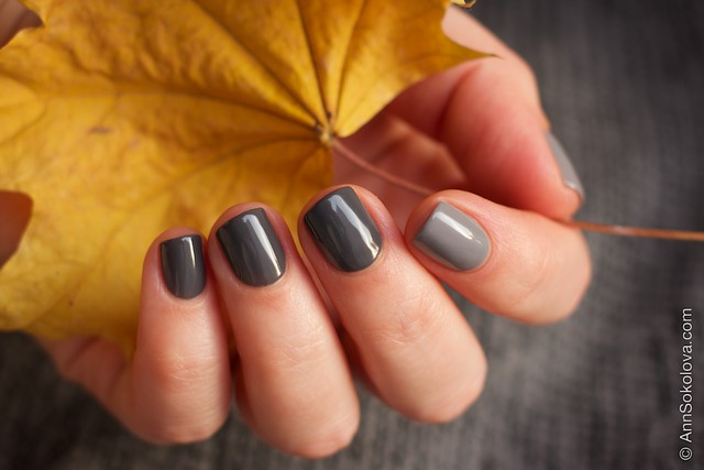 34 Gelish   Fashionably Slate + Let's Hit The Bunny Slipes