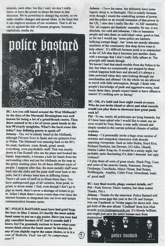 Police Bastard Interview - Bald Cactus #31 - 2014 (3)