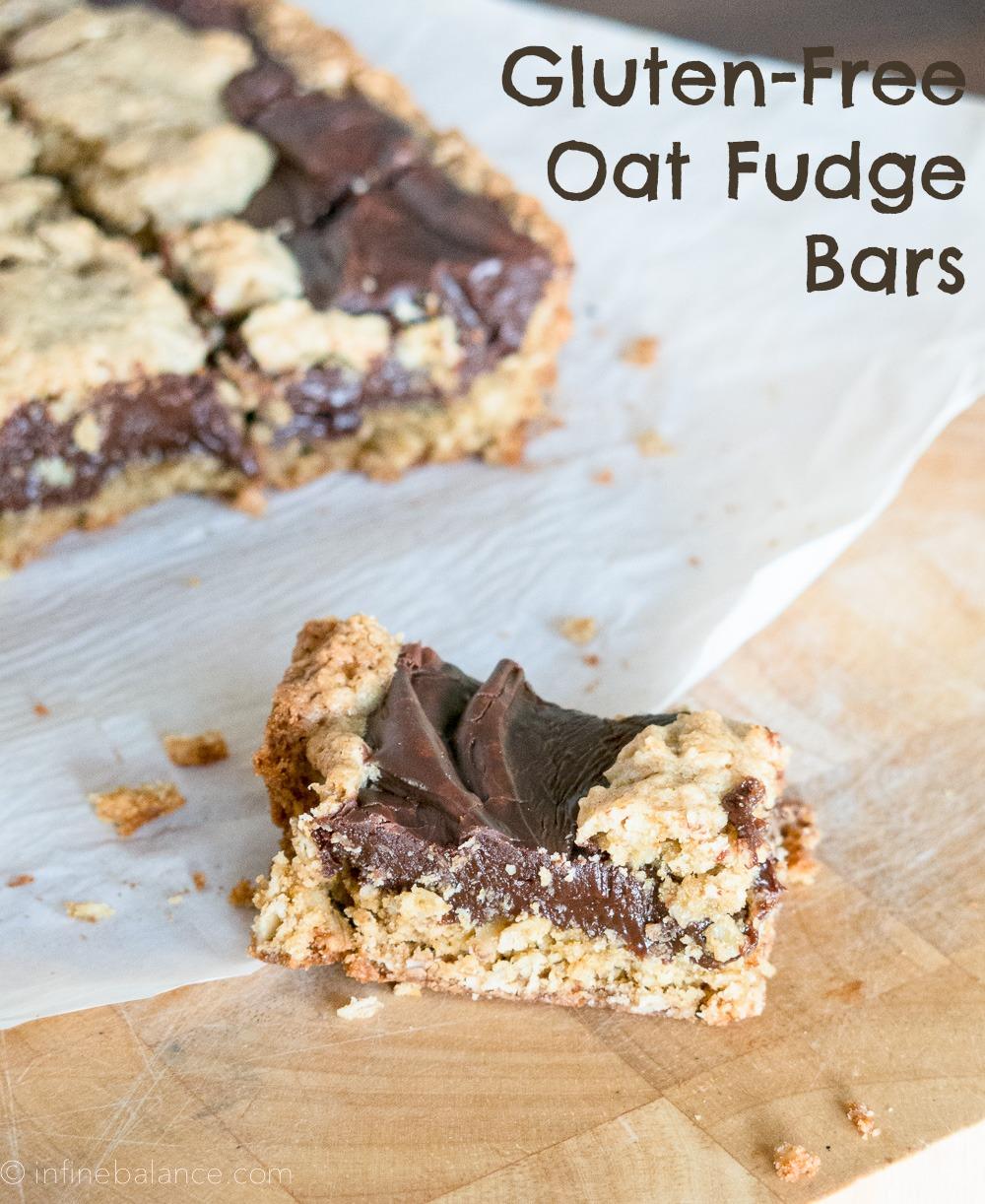 Oat Fudge Bars | www.infinebalance.com #baking #gf