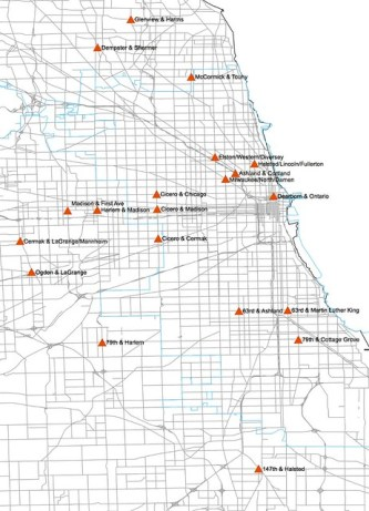 Safe Crossings Site Map