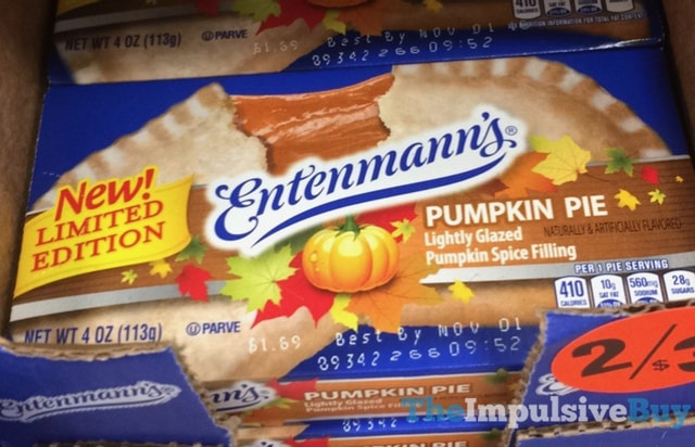 Entenmann's Limited Edition Pumpkin Pie